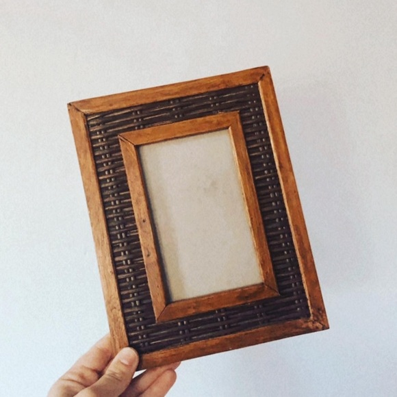 Wood and wicker frame!